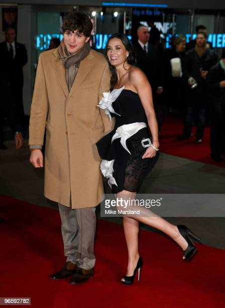 Demi Moore and Ashton Kutcher attend the UK Premiere of 'Valentine's Day' at Odeon Leicester Square on February 11, 2010 in London, England.