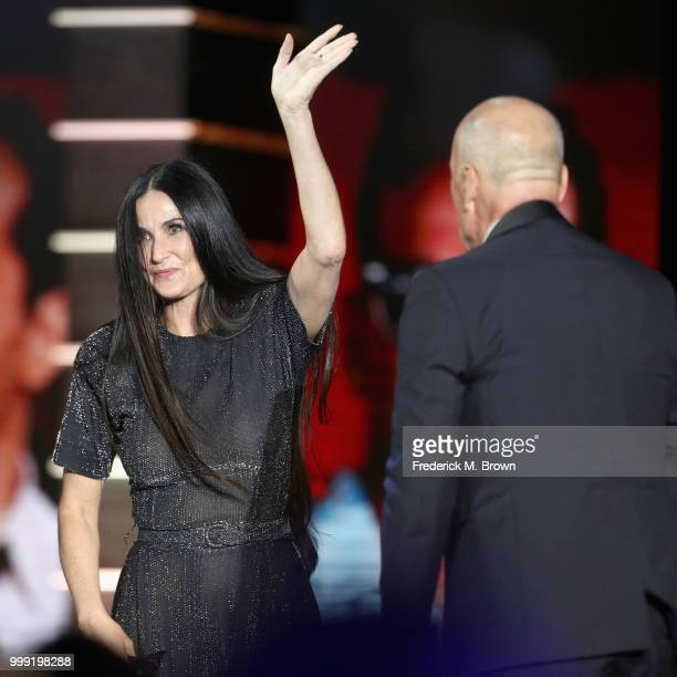 Demi Moore and Bruce Willis attend the Comedy Central Roast of Bruce Willis at Hollywood Palladium on July 14 2018 in Los Angeles California