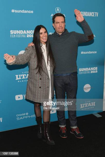 Demi Moore and Ed Helms attend the Corporate Animals Premiere during the 2019 Sundance Film Festival at Eccles Center Theatre on January 29 2019 in...