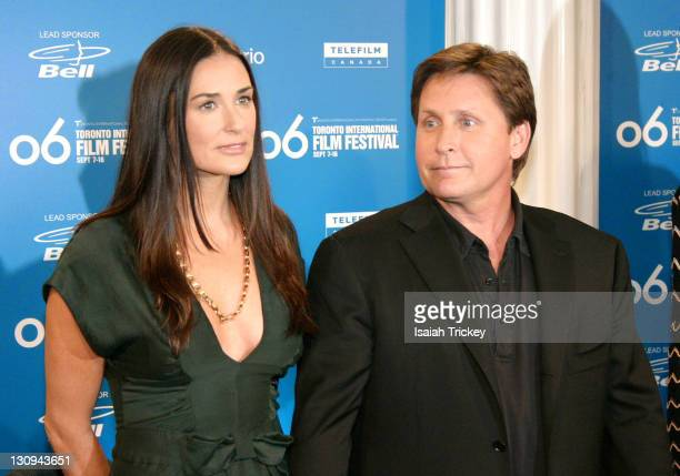 Demi Moore and Emilio Estevez during 31st Annual Toronto International Film Festival 'Bobby' Press Conference at Sutton Place in Toronto Ontario...