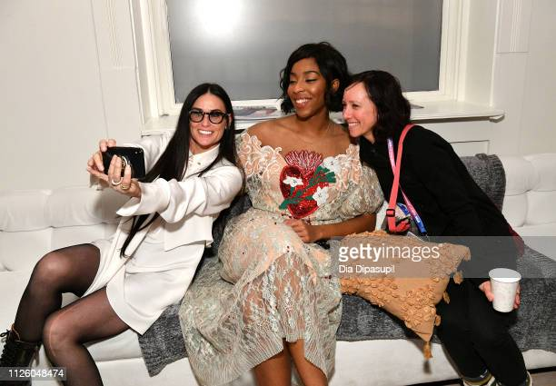Demi Moore and Jessica Williams at the 'Corporate Animals' party at DIRECTV Lodge presented by ATT at the Sundance Film Festival 2019 on January 29...