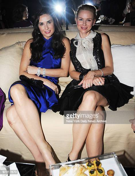 Demi Moore and Naomi Watts at the Nakheel Celebration of the Trump International Hotel Tower Dubai Party held in the Park Avenue Plaza