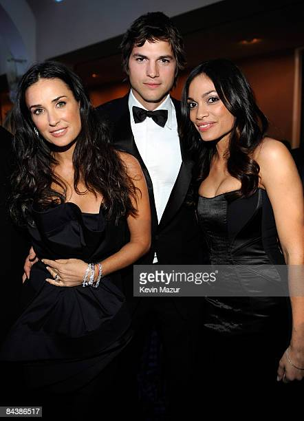 Demi Moore Ashton Kutcher and Rosario Dawson at MTV and ServiceNation's Be the Change Live From The Inaugural Ball at the Washington Hilton on...