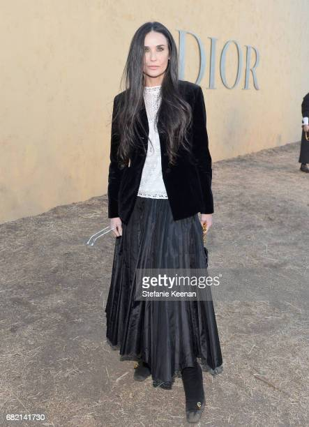 Demi Moore at Christian Dior Cruise 2018 Show and After Party at Gladstone's Malibu on May 11 2017 in Malibu California