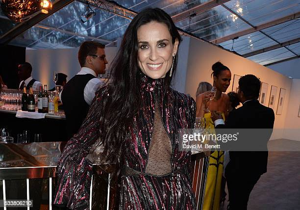 Demi Moore attends British Vogue's Centenary gala dinner at Kensington Gardens on May 23 2016 in London England