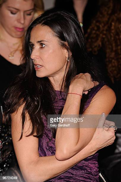 Demi Moore attends Donna Karan Collection Fall 2010 during MercedesBenz Fashion Week at 711 Greenwich Street on February 15 2010 in New York City