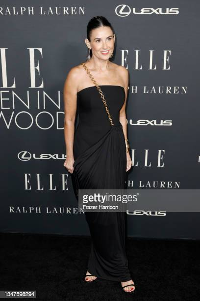 Demi Moore attends ELLE's 27th Annual Women In Hollywood Celebration, presented by Ralph Lauren and Lexus, at Academy Museum of Motion Pictures on...