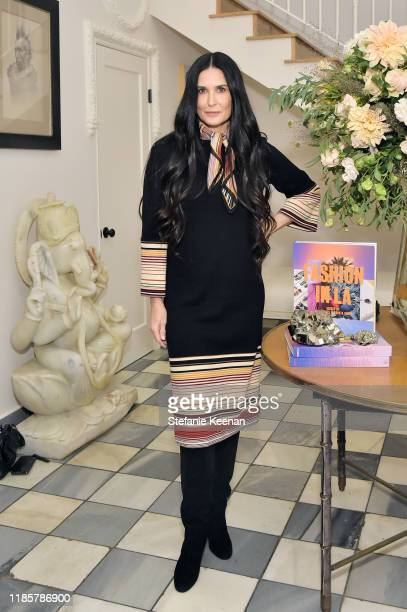 Demi Moore attends Fashion In La Book Launch Celebration at Private Residence on November 05, 2019 in Beverly Hills, California.