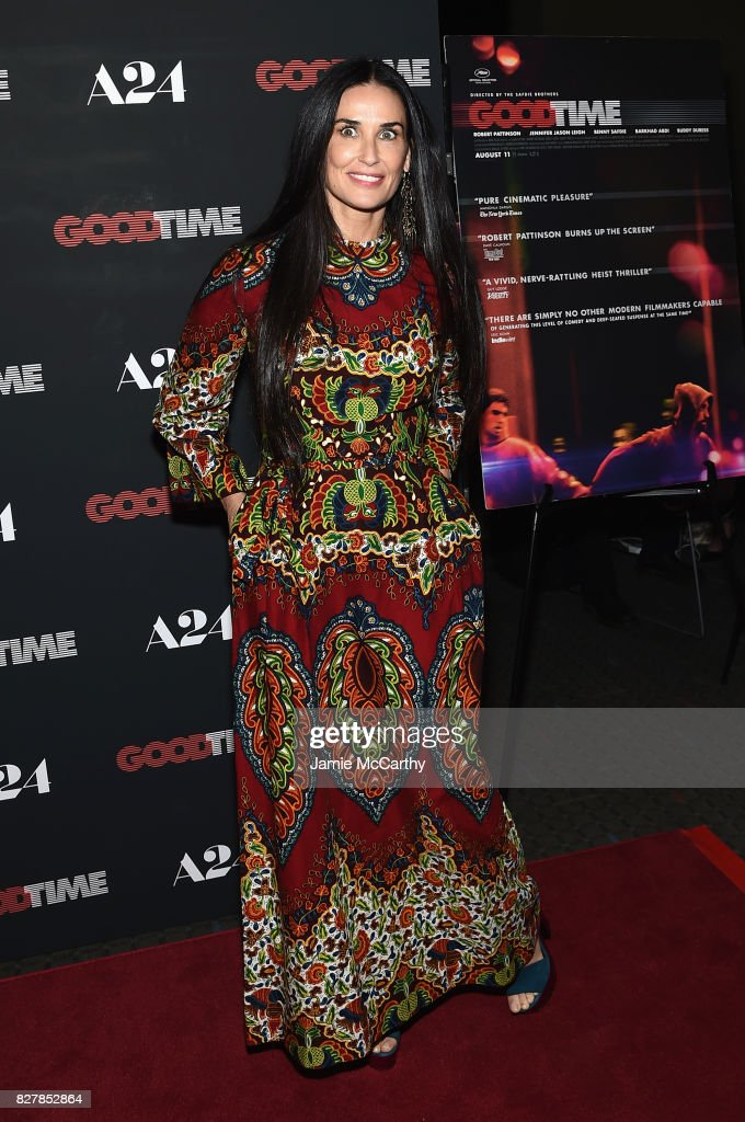 Demi Moore attends 'Good Time' New York Premiere at SVA Theater on August 8, 2017 in New York City.