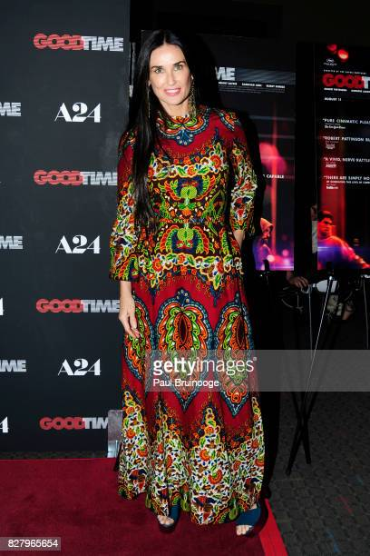 Demi Moore attends 'Good Time' New York Premiere at SVA Theater on August 8 2017 in New York City