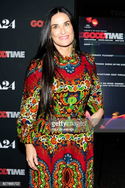 Demi Moore attends Good Time New York Premiere at SVA Theater on August 8 2017 in New York City