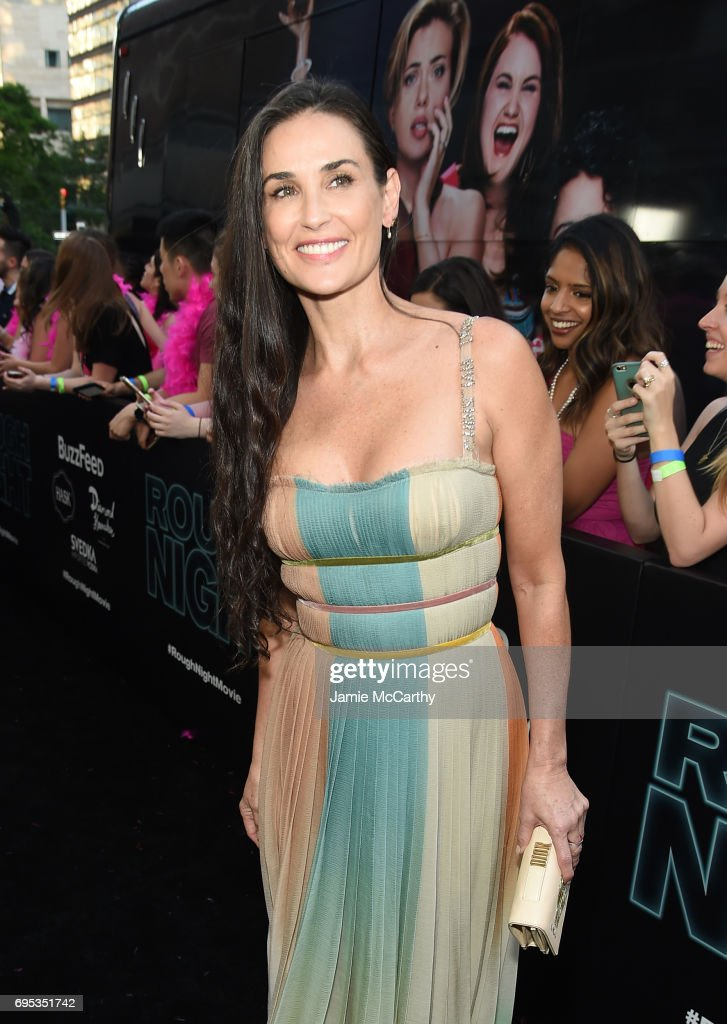 Demi Moore attends New York Premiere of Sony's ROUGH NIGHT presented by SVEDKA Vodka at AMC Lincoln Square Theater on June 12, 2017 in New York City.