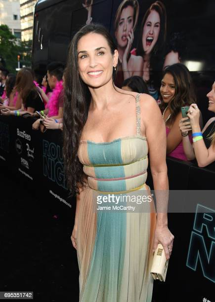 Demi Moore attends New York Premiere of Sony's ROUGH NIGHT presented by SVEDKA Vodka at AMC Lincoln Square Theater on June 12 2017 in New York City
