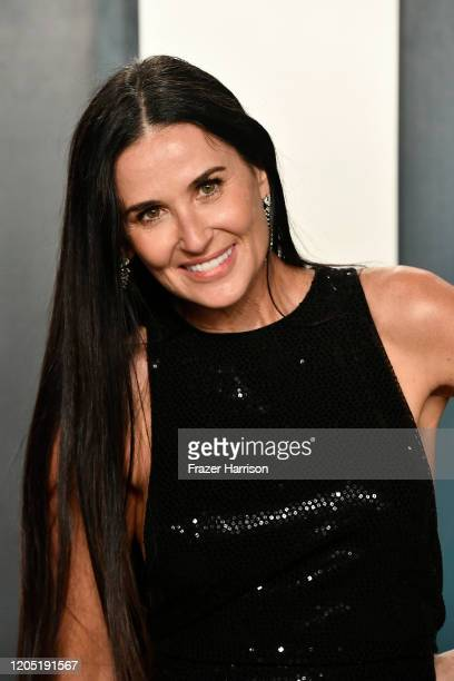 Demi Moore attends the 2020 Vanity Fair Oscar Party hosted by Radhika Jones at Wallis Annenberg Center for the Performing Arts on February 09, 2020...