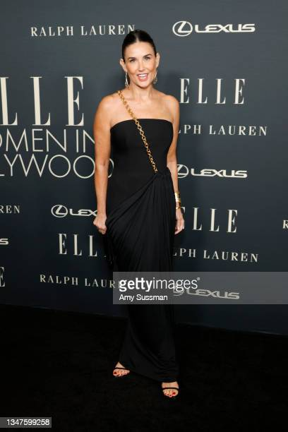 Demi Moore attends the 27th Annual ELLE Women in Hollywood Celebration at Dolby Terrace at the Academy Museum of Motion Pictures on October 19, 2021...