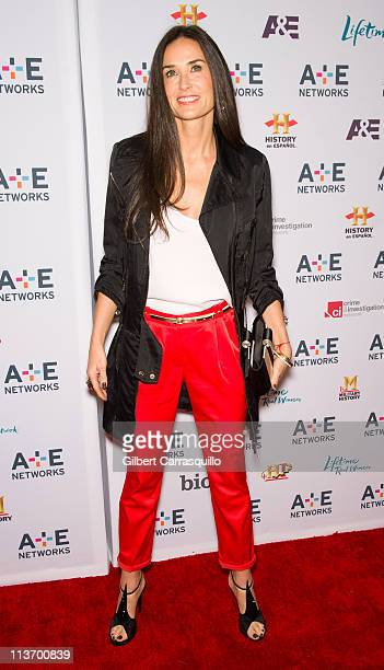 Demi Moore attends the A&E Television Networks 2011 Upfront presentation at the IAC Building on May 4, 2011 in New York City.