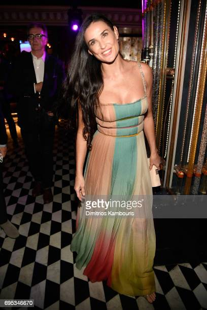 Demi Moore attends the after party for the 'Rough Night' Premiere at Diamond Horseshoe on June 12 2017 in New York City