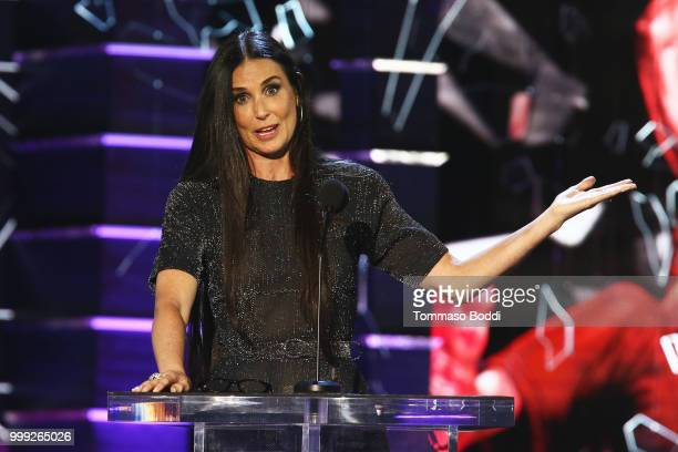 Demi Moore attends the Comedy Central Roast Of Bruce Willis on July 14 2018 in Los Angeles California