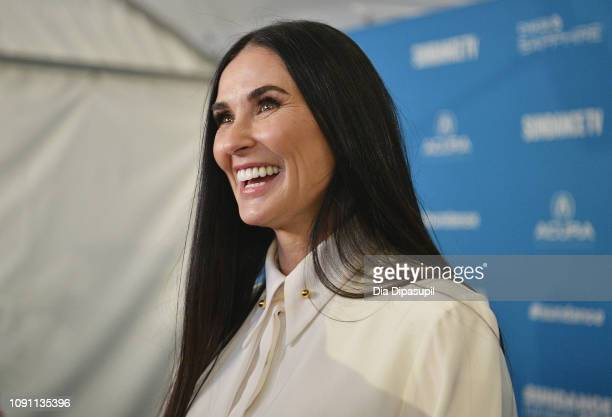 Demi Moore attends the Corporate Animals Premiere during the 2019 Sundance Film Festival at Eccles Center Theatre on January 29 2019 in Park City Utah