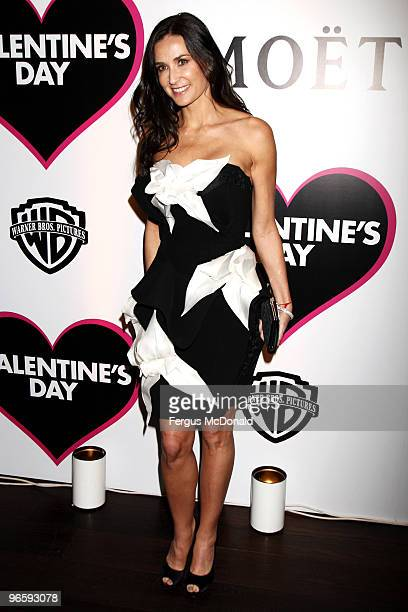 Demi Moore attends the European premiere afterparty of Valentine's Day at Aqua on February 11, 2010 in London, England.
