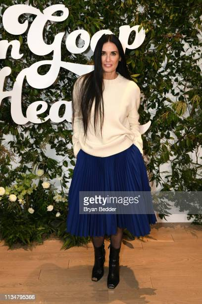 Demi Moore attends the In goop Health Summit New York 2019 at Seaport District NYC on March 09 2019 in New York City