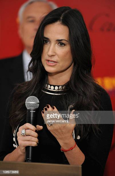 Demi Moore attends the partnership announcement of Cartier with Servicenation at Cartier Mansion on April 30 2009 in New York City