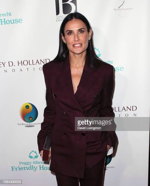 Demi Moore attends the Peggy Albrecht Friendly House's 29th Annual Awards Luncheon at The Beverly Hilton Hotel on October 27 2018 in Beverly Hills...