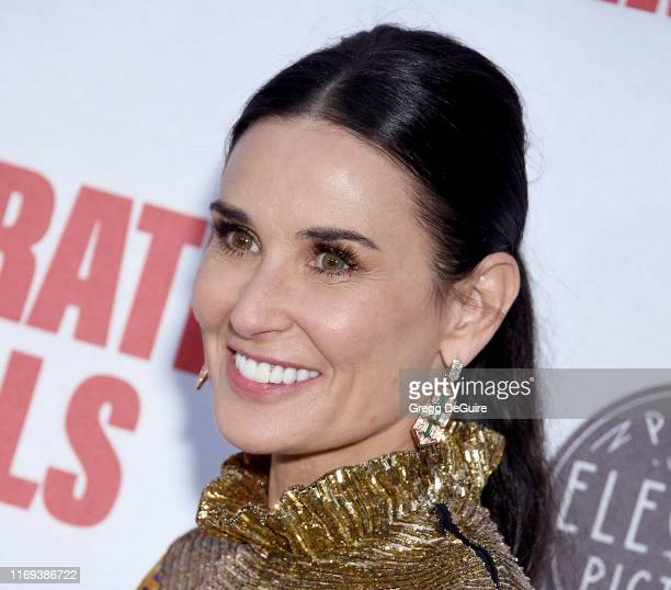 """Demi Moore attends the LA Premiere Of Screen Media Film's """"Corporate Animals"""" at NeueHouse Los Angeles on September 18, 2019 in Hollywood, California."""