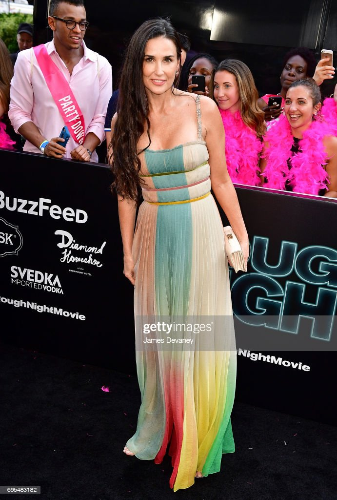 Demi Moore attends the 'Rough Night' New York Premeire at AMC Lincoln Square Theater on June 12, 2017 in New York City.