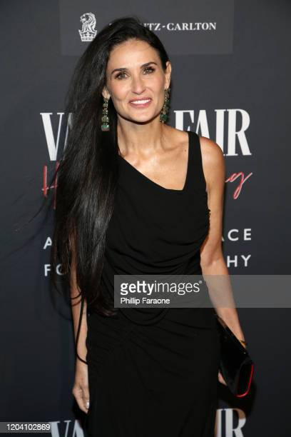 Demi Moore attends the Vanity Fair and Annenberg Space for Photography's Celebration of The Opening of Vanity Fair: Hollywood Calling, sponsored by...