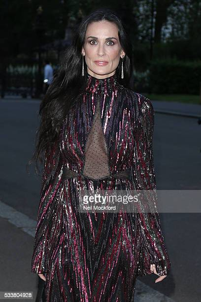 Demi Moore attends the Vogue 100 Gala Dinner at the East Albert Lawn in Kensington Gardens on May 23 2016 in London England