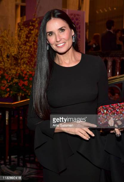 Demi Moore attends The Women's Cancer Research Fund's An Unforgettable Evening Benefit Gala at the Beverly Wilshire Four Seasons Hotel on February 28...