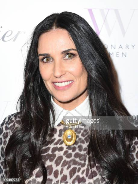 Demi Moore attends Visionary Women Honors Demi Moore in Celebration of International Women's Day on March 8 2018 in Beverly Hills California
