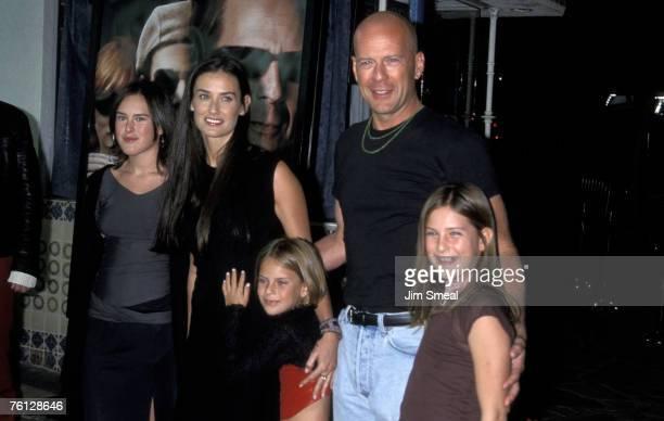 Demi Moore, Bruce Willis, Rumer Willis, Tallulah Willis, and Scout Willis
