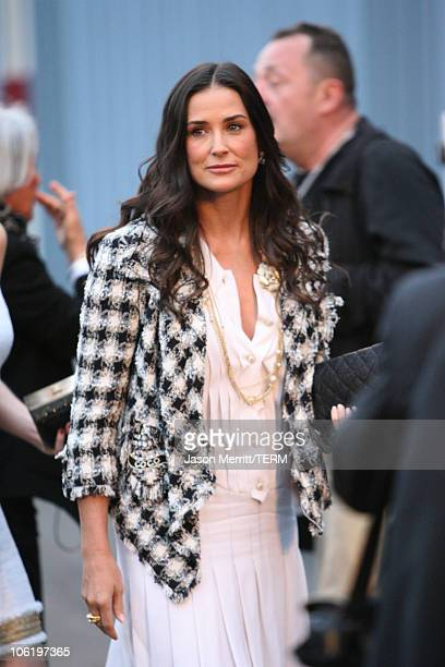 Demi Moore during 2007/2008 Chanel Cruise Show Presented by Karl Lagerfeld at Hangar 8 in Santa Monica California United States