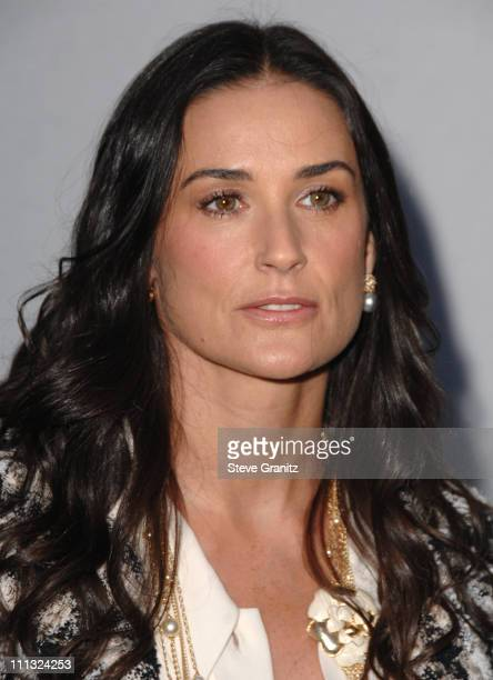 Demi Moore during 2007/2008 Chanel Cruise Show Presented by Karl Lagerfeld at Hangar 8 Santa Monica Airport in Santa Monica California United States