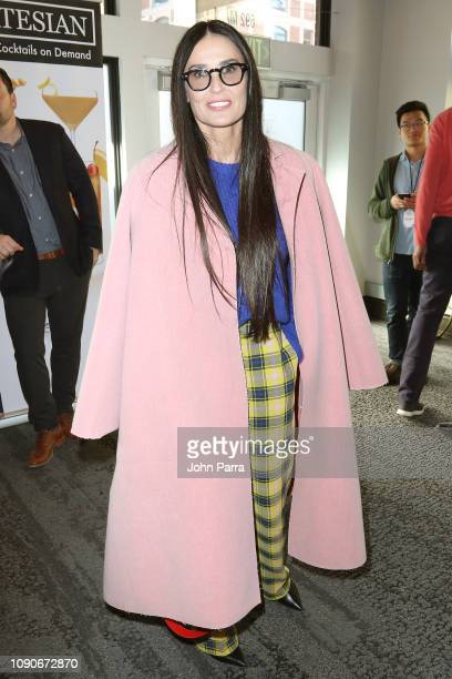 Demi Moore from Corporate Animals attends The Hollywood Reporter 2019 Sundance Studio At Sky Strada Park City on January 28 2019 in Park City Utah