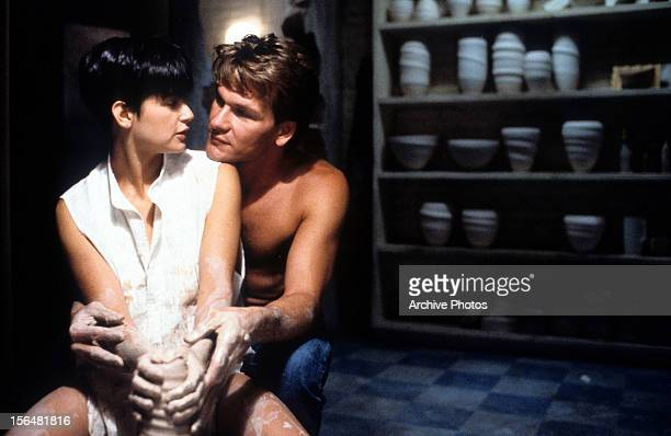 Demi Moore is embraced by Patrick Swayze in a scene from the film 'Ghost' 1990