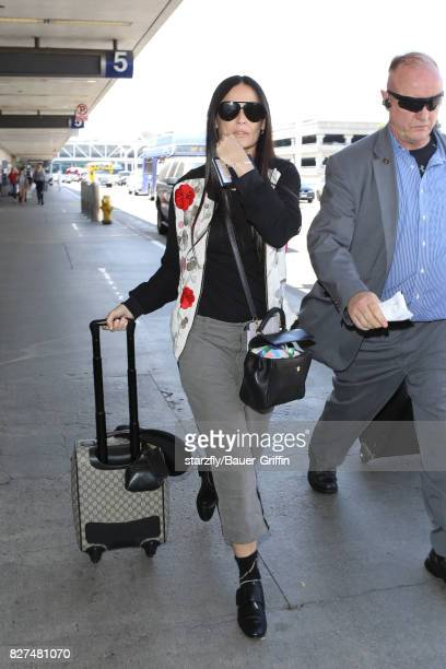 Demi Moore is seen at LAX on August 07 2017 in Los Angeles California
