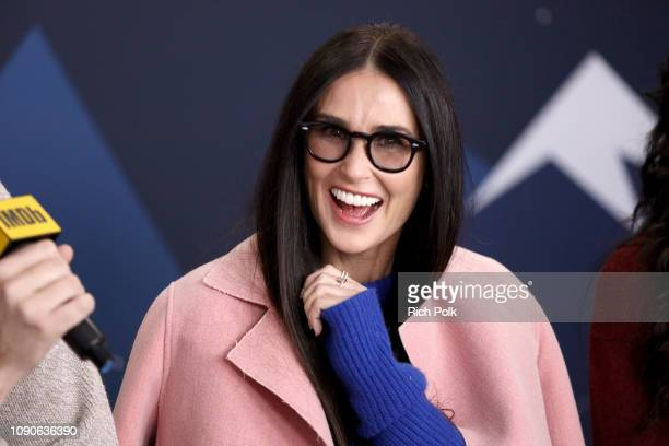 Demi Moore of Corporate Animals attends The IMDb Studio at Acura Festival Village on location at The 2019 Sundance Film Festival Day 4 on January 28...