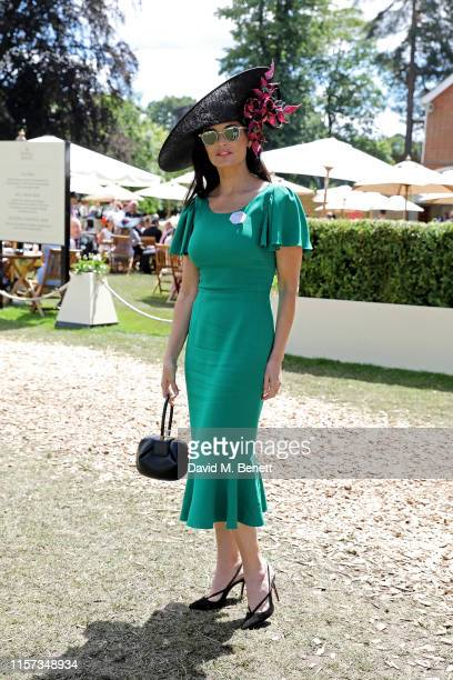 Demi Moore on day 4 of Royal Ascot at Ascot Racecourse on June 21 2019 in Ascot England