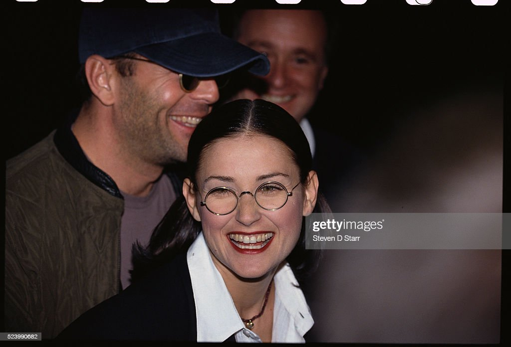 Bruce Willis and Demi Moore at Indecent Proposal Premiere : News Photo