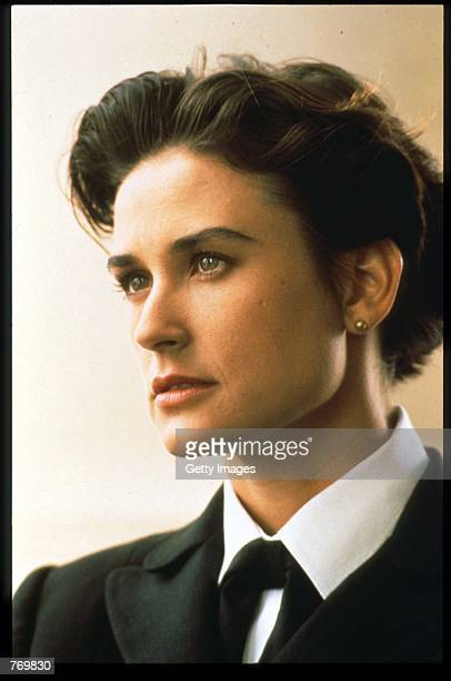 Demi Moore plays Lieutenant Commander Joanne Galloway in the Rob Reiner film adaptation of the Broadway drama 'A Few Good Men' November 15 1991 in...