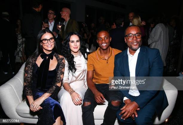 Demi Moore Rumer Willis and Lee Daniels attend Empire' 'Star' Celebrate FOX's New Wednesday Night After Party at One World Observatory on September...