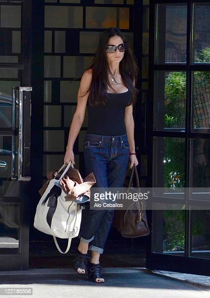 Demi Moore sighting on August 26 2011 in New York City