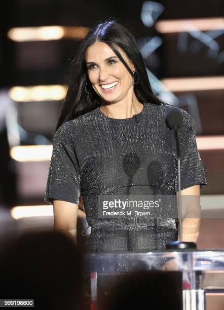 Demi Moore speaks onstage during the Comedy Central Roast of Bruce Willis at Hollywood Palladium on July 14 2018 in Los Angeles California