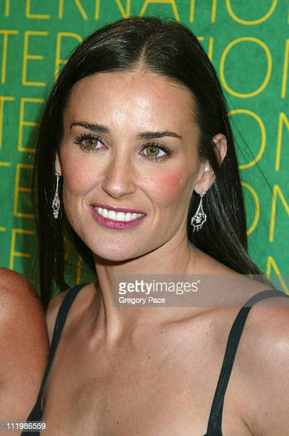 Demi Moore wearing Fred Leighton earrings during The Fashion Group International Presents The 20th Annual Night of Stars at Cipriani 42nd Street in...