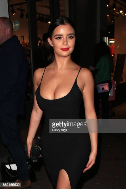 Demi Rose attends Nasty Gal UK Pop Up Launch Party on Carnaby Street on November 1 2017 in London England