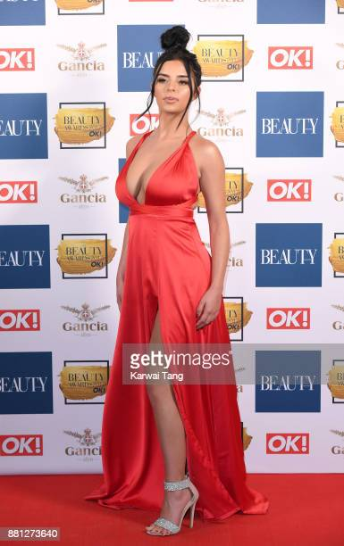 Demi Rose attends The Beauty Awards at Tower of London on November 28 2017 in London England