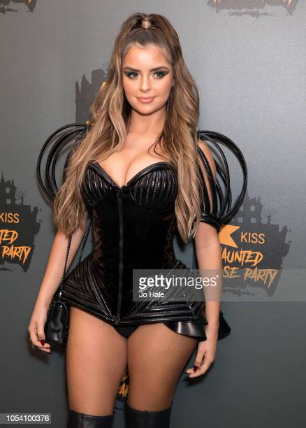 Demi Rose attends the Kiss Haunted House Party 2018 at The SSE Arena Wembley on October 26 2018 in London England